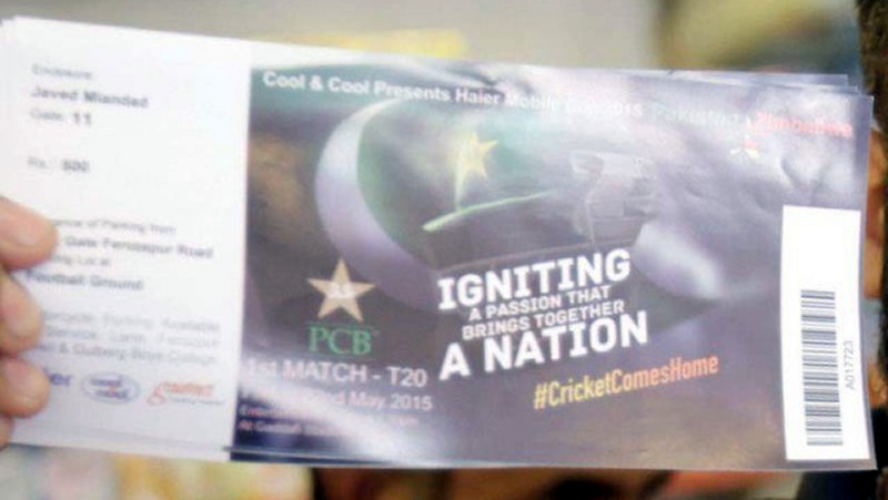 600 tickets for Pakistan-Zimbabwe