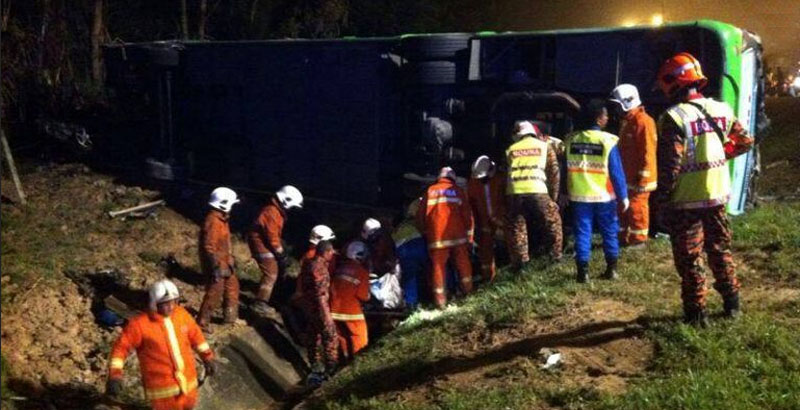 8 Killed, 22 Hurt in Malaysia Bus Accident
