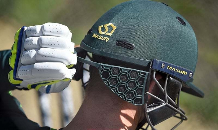 Australian Players Tests New Helmet Safety Guard