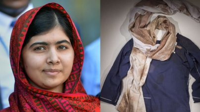 Malala's Blood-spattered School Uniform Displayed for First Time