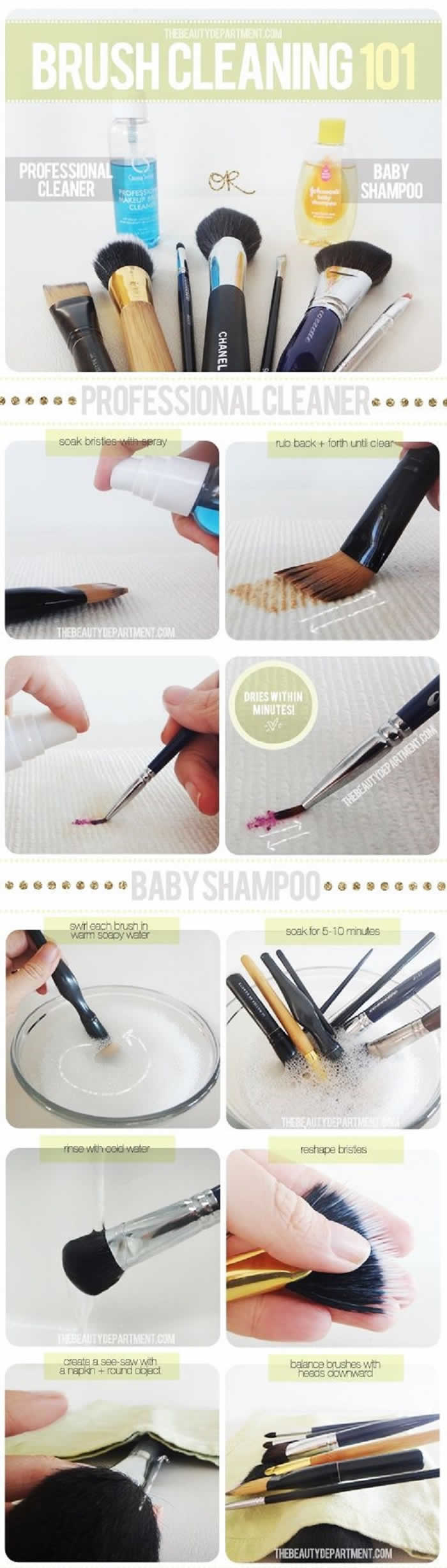 Clean Make-Up Brushes