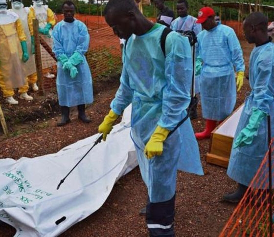 Ebola workers in Sierra Leone Dump Bodies
