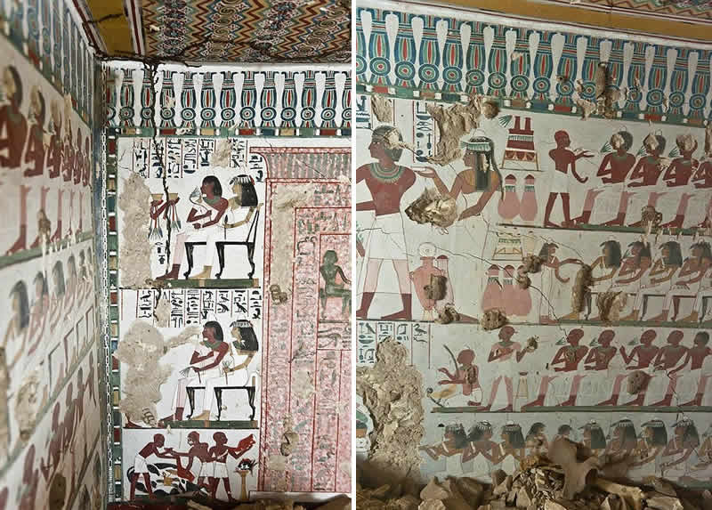 Egyptian tombs unseen photos