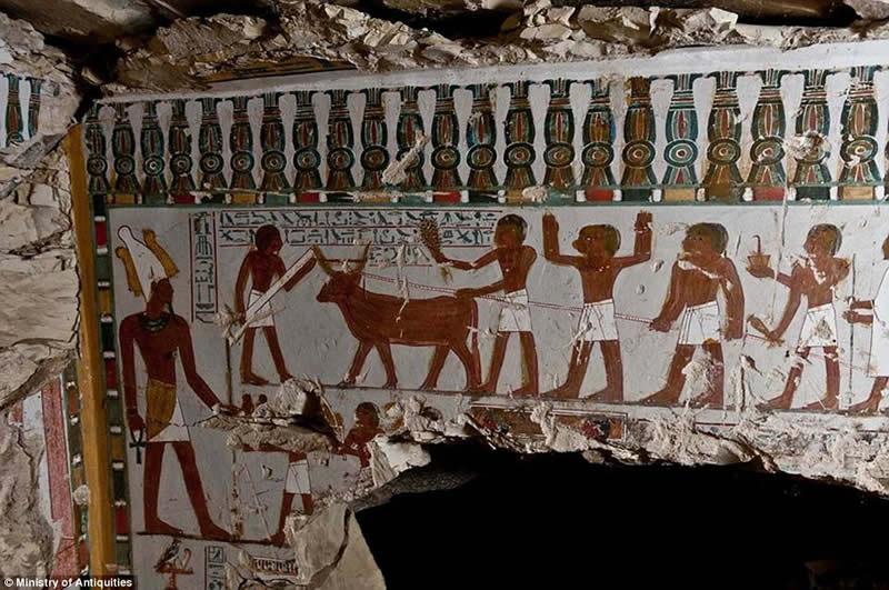 Egyptian tombs unseen art