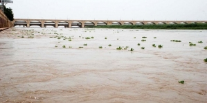 High flood at Chashma, Kalabagh