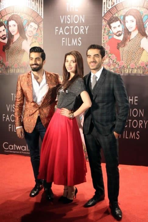 Mahira Khan, Adeel Hussain and Sheheryar Munawar