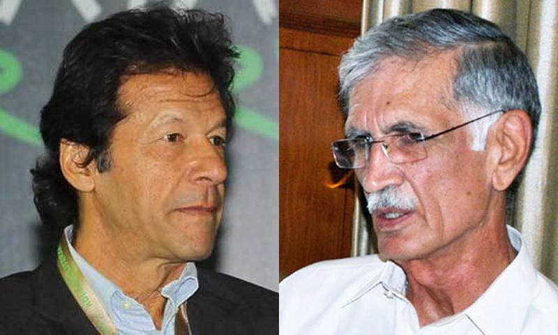 Imran Khan and Pervaiz Khattak