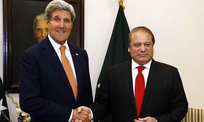 Kerry and nawaz sharif