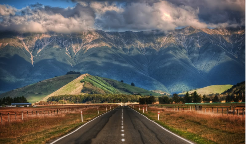 Long roads of New Zealand
