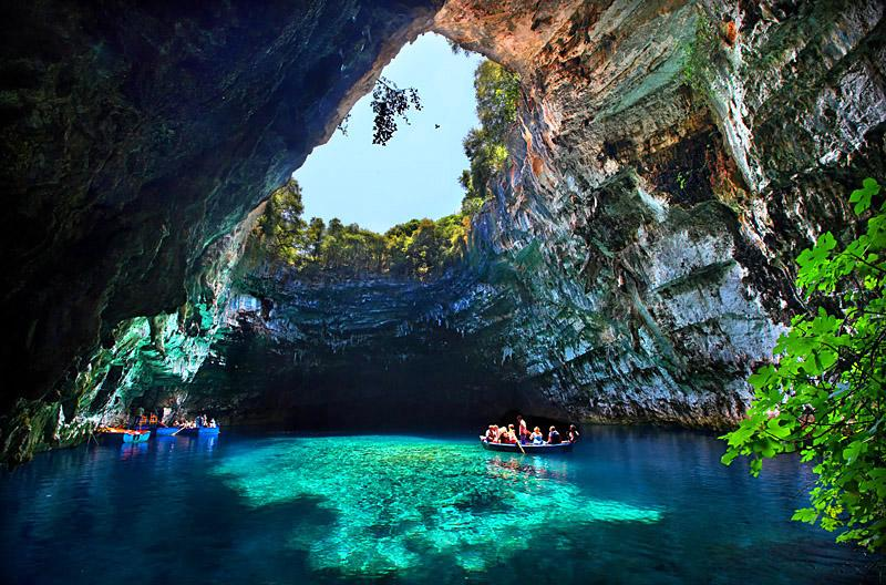 Melissani Cave in Greece
