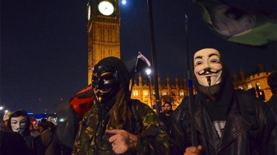 Million Mask March Draws Thousands in London