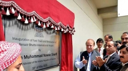 PM Nawaz Inaugurates Benazir Bhutto International Airport