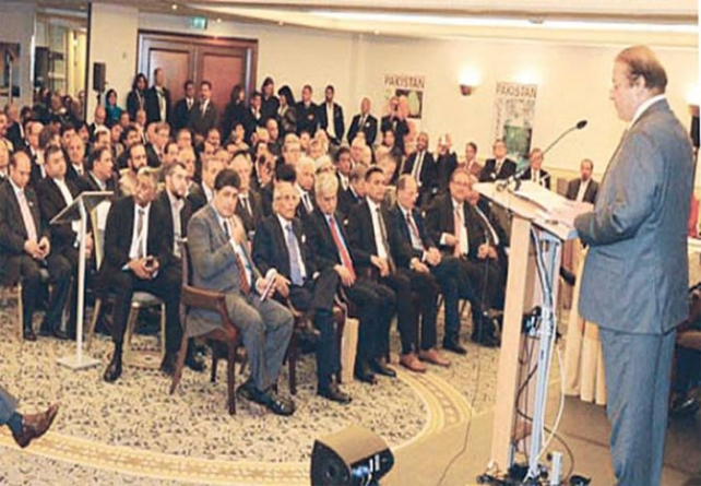 PM Nawaz Sharif Woos German Investors