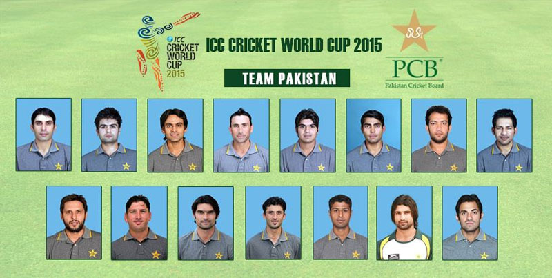 pakistan cricket  World Cup Squad 2015