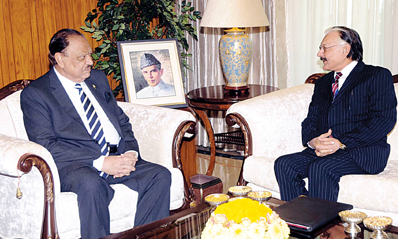 Mamnoon Hussain and Sardar Muhammad Raza