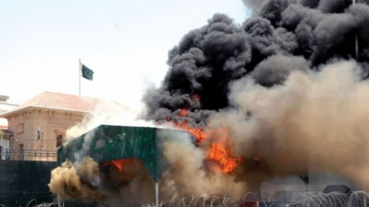 Punjab Assembly Attacked, Security Shed Set On Fire