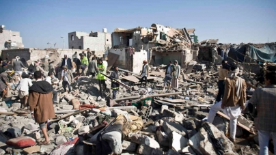 Saudi-led Coalition Strikes Rebels in Yemen,