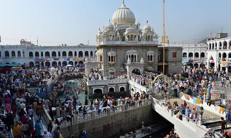 Sikh pilgrims gather