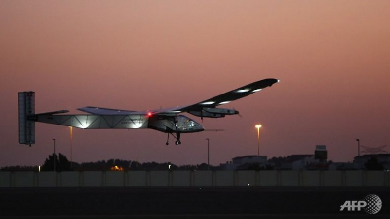 Solar Powered Plane Lifts Off on World Tour