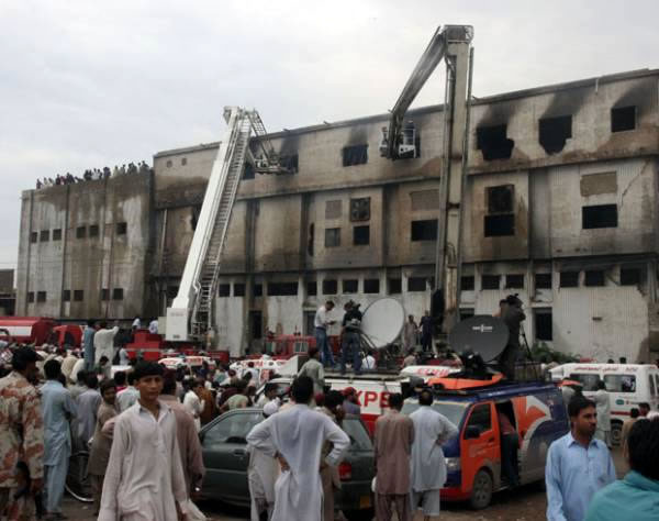 Karachi factory arsonists