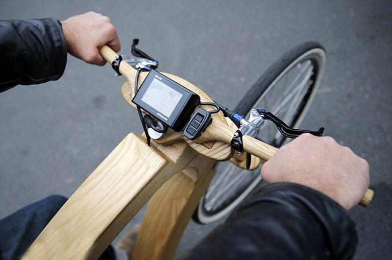 electric motor wooden bike