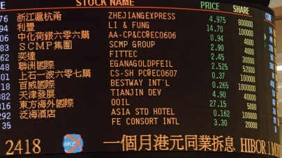 Hong Kong Shares Up 0.47 % by Lunch