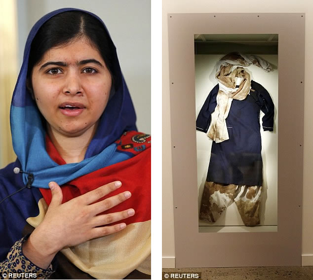 malala bloodstained uniform