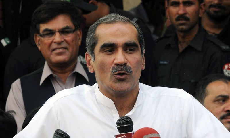 Railway Minister Khawaja Saad Rafique